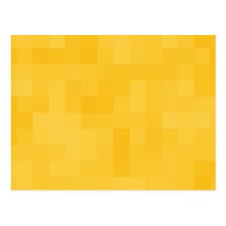 Sunny Yellow Abstract Design. Postcard