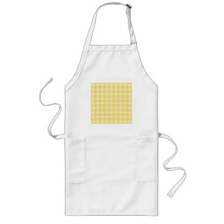 Sunny Yellow and White Swirl Pattern. Custom Long Apron