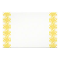 Sunny Yellow and White Swirl Pattern. Custom Stationery