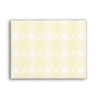 Sunny Yellow and White Swirl Pattern. Envelopes