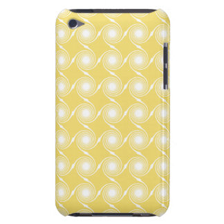 Sunny Yellow and White Swirl Pern Custom iPod Touch Cover