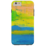 Sunny Yellow Blue Nautical Abstract Art Tough iPhone 6 Plus Case
