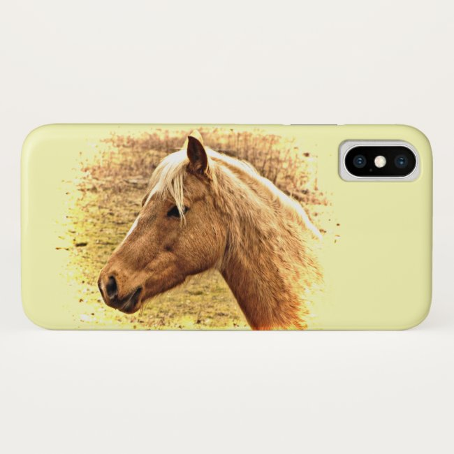 Sunny Yellow Brown Horse iPhone X Case
