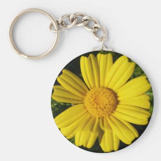 Sunny yellow chamomile keychain