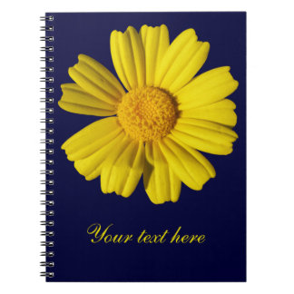 Sunny yellow chamomile notebook