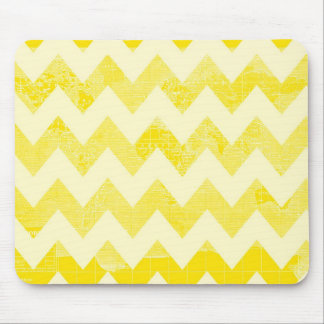 Sunny Yellow Chevrons on a Yellow Map Mouse Pad