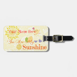 Sunny Yellow Chick and Easter Eggs Bag Tag