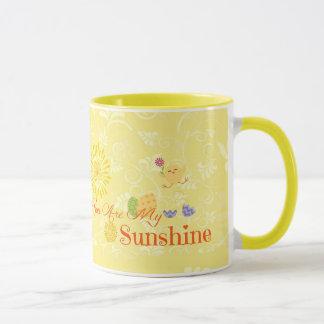 Sunny Yellow Chick and Easter Eggs Mug