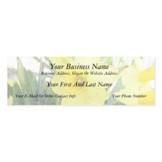 Sunny Yellow Daffodil Double-Sided Mini Business Cards (Pack Of 20)