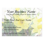 Sunny Yellow Daffodil Business Card Template