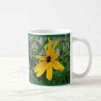 Sunny yellow dalia coffee mug
