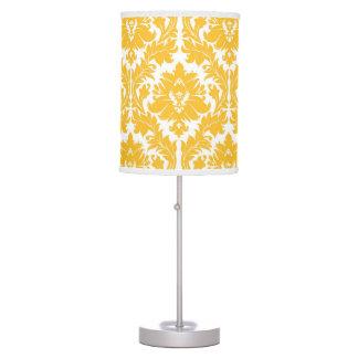 Sunny Yellow Damask Table Lamp
