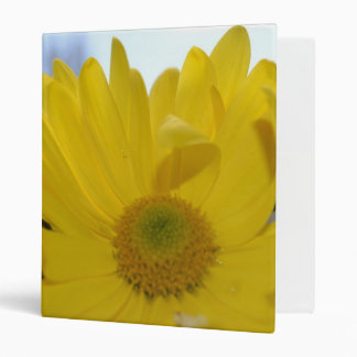 Sunny Yellow Flower 3 Ring Binder