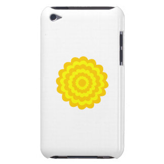 Sunny yellow flower barely there iPod cases