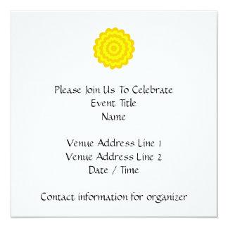 Sunny yellow flower. 5.25x5.25 square paper invitation card