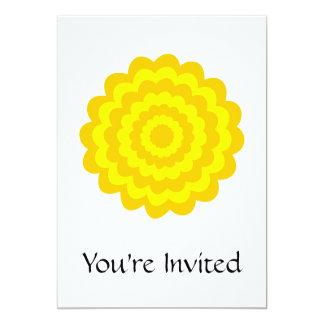 Sunny yellow flower. 5x7 paper invitation card
