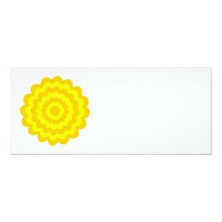 Sunny yellow flower. 4x9.25 paper invitation card