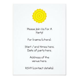 Sunny yellow flower. 6.5x8.75 paper invitation card