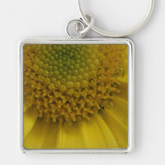 Sunny Yellow Flower Keychain