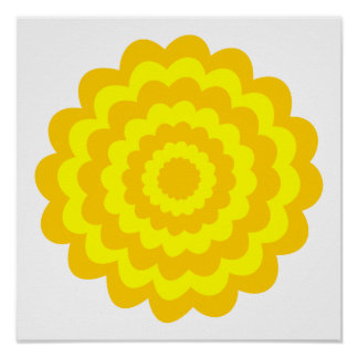 Sunny yellow flower. posters