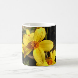 Sunny Yellow Flowers. Bidens. Coffee Mug