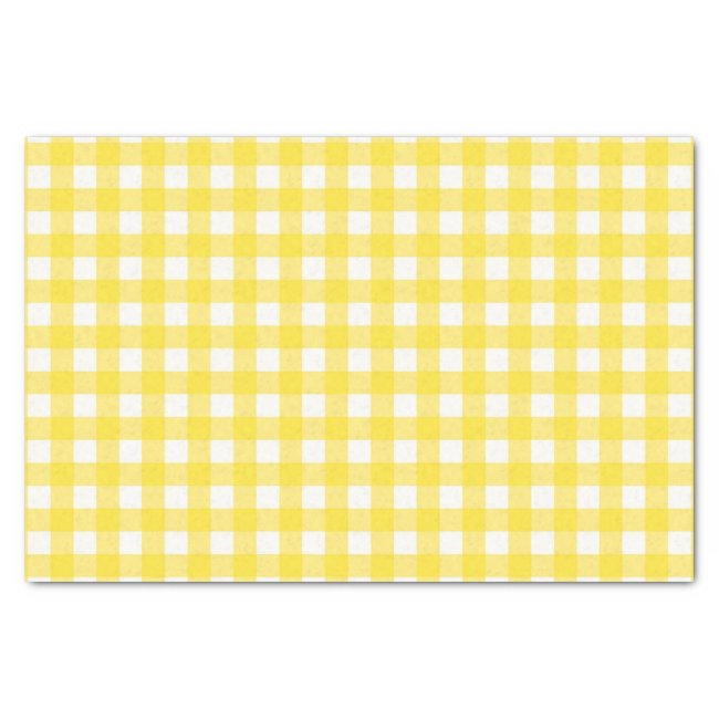 Sunny Yellow Gingham Checked Pattern