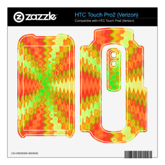 sunny yellow orange abstract HTC touch pro2 skins