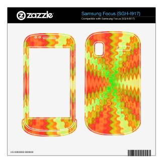sunny yellow orange abstract decals for samsung focus