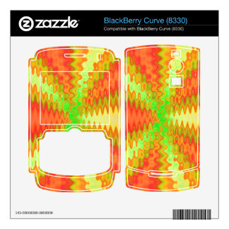 sunny yellow orange abstract BlackBerry curve skins