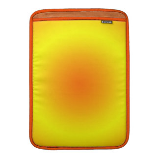Sunny Yellow & Orange Circular Gradient MacBook Air Sleeves