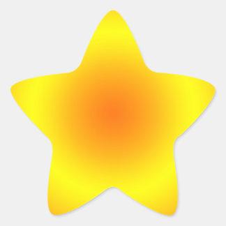 Sunny Yellow & Orange Circular Gradient Star Sticker