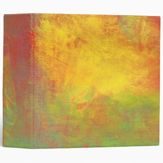 Sunny Yellow Orange Green Rustic Grunge Abstract Binder