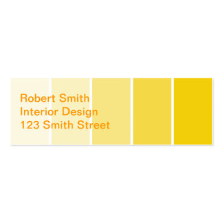 Sunny Yellow Paint Samples Business Card Template