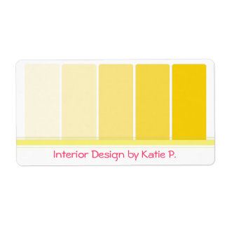 Sunny Yellow Paint Samples Label
