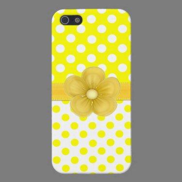 Sunny Yellow Polka Dot iPhone 5 Case