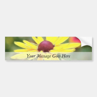 Sunny Yellow Rudbeckia Bumper Sticker