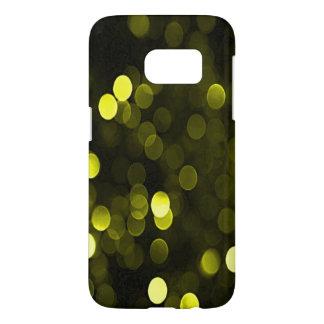 Sunny Yellow Sparkly Bokeh Lights Samsung Galaxy S7 Case
