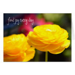 Sunny Yellow Spring Flowers Cards