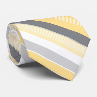 Sunny Yellow Stripes Neck Tie