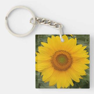 Sunny Yellow Sunflower Keychain