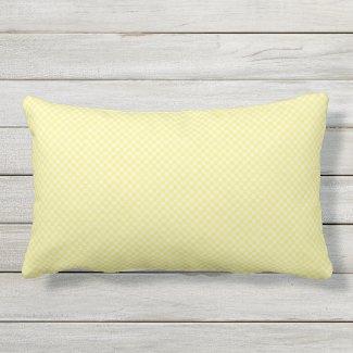 Sunny Yellow Tiny Check Outdoor Lumbar Pillow
