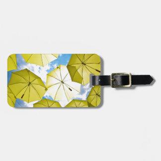 Sunny Yellow Umbrellas Bag Tag