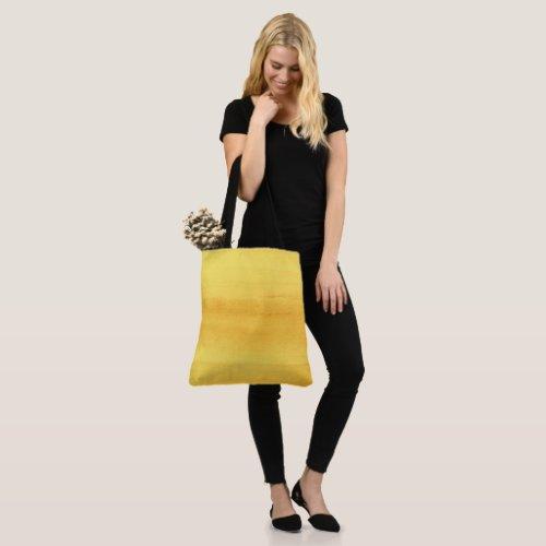 Sunny Yellow Watercolor Brushstrokes Tote Bag