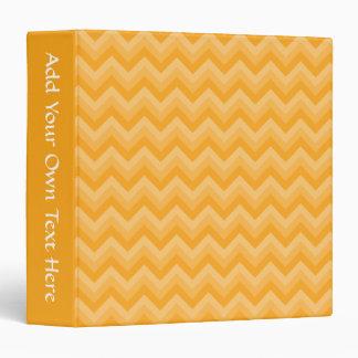 Sunny Yellow Zig Zag Pattern. 3 Ring Binder