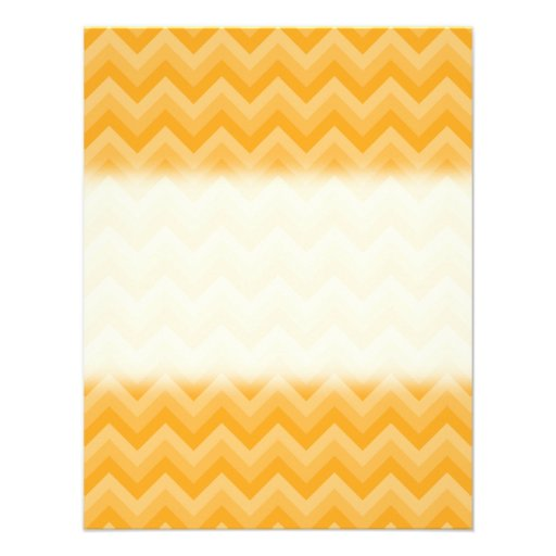 Sunny Yellow Zig Zag Pattern. Announcement