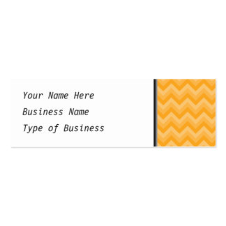 Sunny Yellow Zig Zag Pattern. Business Card Template