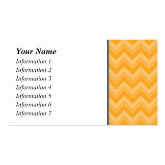 Sunny Yellow Zig Zag Pattern. Business Card Templates