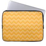 Sunny Yellow Zig Zag Pattern. Computer Sleeves