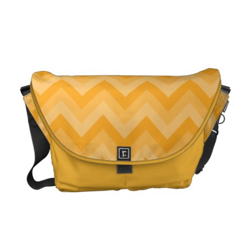 Sunny Yellow Zig Zag Pattern. Courier Bags