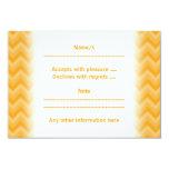 "Sunny Yellow Zig Zag Pattern. 3.5"" X 5"" Invitation Card"